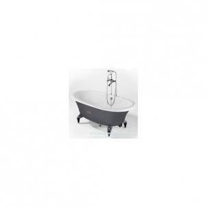 Ketinė vonia Newcast 170x85 pilka su kojomis