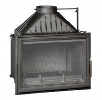 Ketinis židinio ugniakuras Invicta Grande Vision 700 su tiesiu stiklu ir sklende