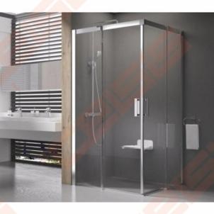 Keturkampė shower RAVAK SMARTLINE MSRV4-90 su blizgiom detalėm ir tamsintu stiklu