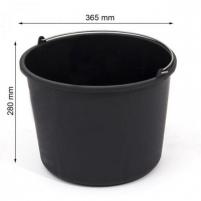 Kibiras IWIR20 statybinis plastikinis juodas 20 L Kibirai, vonelės, talpos