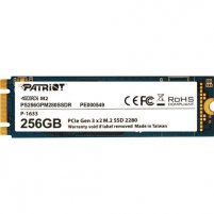 Kietas diskas Patriot SSD Scorch M.2 PCIe 256GB Read/Write (1700/780Mb/s)