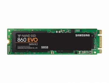 Kietas diskas Samsung SSD 860 EVO, 500GB, M.2 SATA, 550/520 MB/s