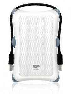 Kietasis diskas - išorinis External HDD Silicon Power Armor A30 2.5 2TB USB 3.0, Anti-shock, White