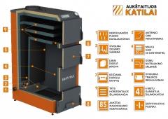 Kieto kuro katilas EKON-MAX, apatinio degimo, 40kW A traditional solid fuel boilers