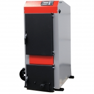Kieto kuro katilas KRUK MEDIUM S su ventiliatoriumi ir elektriniu valdymu (galia 22 kW) A traditional solid fuel boilers