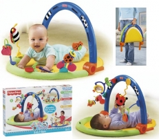 Kilimėlis žaidimams Fisher Price H8096 3-in-1 Developmental Gym