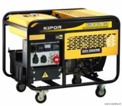 KIPOR KGE12E3 (7,6 kW) Benzininis generatorius Benzīna elektroģeneratoru