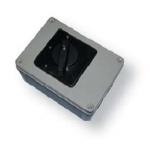 Kirtiklis dėžutėje reversinis, 3P, 16A, L-O-P, IP65, su pasukama rankenėle, pilka-juoda, ELK, ETI 04772400 Packet switches