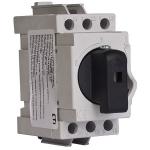 Kirtiklis modulinis, 3P, 25A, su pasukama rankenėle, pilka-juoda, LAS, ETI 04660012 Packet switches