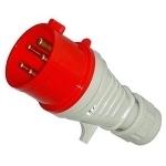 Kištukas 5P, 16A, nešiojamas, IP44, twist, 3628-326 Industrial sockets