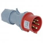 Kištukas 5P, 32A, nešiojamas IP44, TP-ELECTRIC 3107-301-1600 Industrial sockets