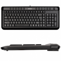 Klaviatūra A4Tech keyboard KL-40, USB (Black) (US+Lithuanian), Slim Klaviatūros