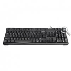 A4Tech keyboard KR-750, USB (Black) (US+Lithuanian), Rounded Edge Keycaps Keyboard