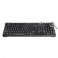 Klaviatūra A4Tech keyboard KR-750, USB (Black) (US+Lithuanian), Rounded Edge Keycaps Klaviatūros