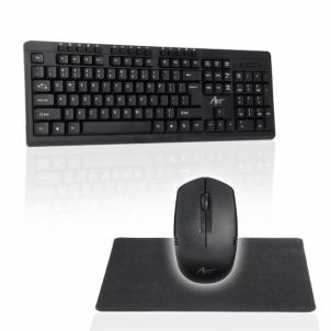 Klaviatūra ART Wireless Set Keyboard + Mouse AK-48A USB + mouse pad