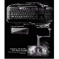 Klaviatūra CM Storm ''Suppressor'' , black, Gaming+Membrane Keyboard, RU Klaviatūros