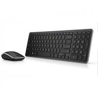 Klaviatūra Dell Keyboard and mouse set KM714 Wireless, USB, Keyboard layout US, No, Mouse included, Numeric keypad, Black, Wireless connection