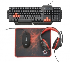 Klaviatūra Gembird Ultimate 4-in-1 Gaming kit, US layout
