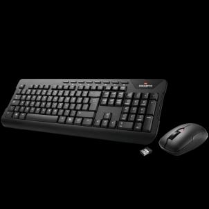 Klaviatūra Gigabyte Wireless Keyboard KM7590, Black Klaviatūros