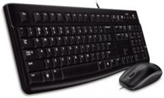 Klaviatūra Logitech  Pelė Desktop MK120, US, USB, Juoda
