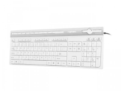 Klaviatūra Natec Keyboard Swordfish SLIM, USB, US layout, white