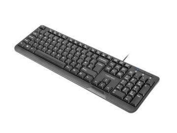 Klaviatūra Natec Keyboard TROUT SLIM, USB, US layout, black