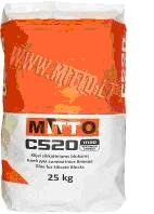 Glue for silicate blocks MITTO C520 25kg Glued dry mixes