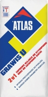 Atlas Grawis U - 2 in 1 - adhesive both for fixing foamed polystyrene, XPS boards and for mesh embedding 25 kg Glue reinforcement