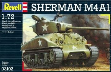 Klijuojamas modelis EVELL 03102 US M4A1 Sherman Tank Klijuojami modeliai vaikams