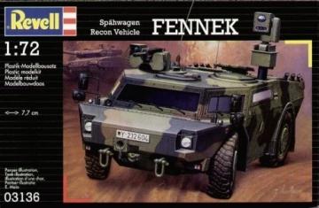 Klijuojamas modelis REVELL 03136 Scout Car Fennek Stick patterns for kids