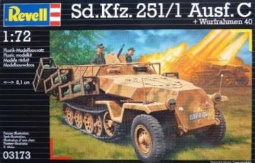 Klijuojamas modelis REVELL 03173 Sd.Kfz.251/1 Ausf.c Wurfrahmen Klijuojami modeliai vaikams