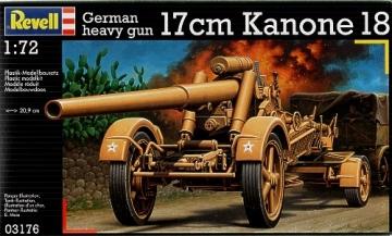 Klijuojamas modelis REVELL 03176 German heavy gun '17cm Kanone 18' Klijuojami modeliai vaikams