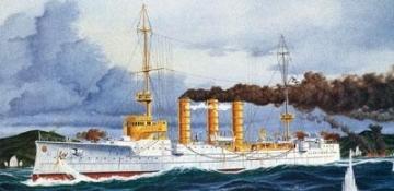 Klijuojamas modelis REVELL 05041 1/350 Ship Emden Kreuzer SMS Klijuojami modeliai vaikams