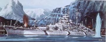 Klijuojamas modelis REVELL 05042 1/570 Battleship Tirpitz Klijuojami modeliai vaikams