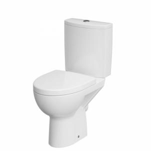 Tualete CERSANIT PARVA CLEAN ON ar lėtai užsidarančiu vaks Tualetes skapji