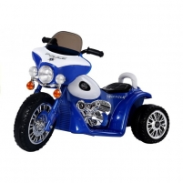 Kokybiškas elektrinis mėlynas triratis POLICE (WDJT568) Automobiliai vaikams