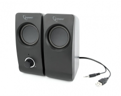 Kolonėlės Gembird Desktop Multimedia Stereo Speakers set 2.0 Tsunami, RMS 6W, black