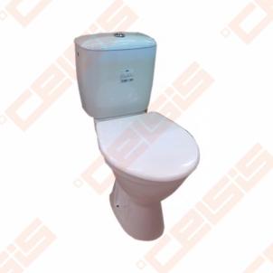 Kombinuotas actable toilet JIKA Norma/Rigo with bakeliu right runoff, horizontal trap, with start-stop nuleidimo mehanizm, šoniniu vandens input, with termoplastikiniu cover Lavatory closets