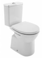 Kombinuotas WC EASY with hard, soft close cover, horizontal, 3/6 ltr, baltas Lavatory closets