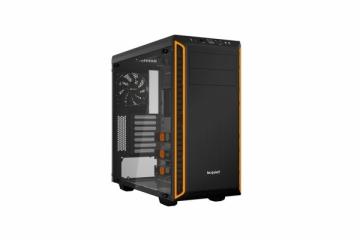 Kompiuterio korpusas be quiet! Pure Base 600 window, orange, ATX, M-ATX, mini-ITX case