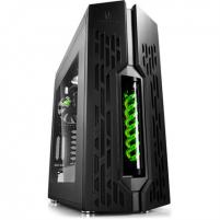 Kompiuterio korpusas Deepcool GENOME II BK-GN Side window, USB 3.0 x2, Mic x1, Spk x1, Black, Full-Tower, Power supply included No