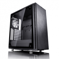 Kompiuterio korpusas Fractal Design Define C TG FD-CA-DEF-C-BK-TG Side window, Left side panel - Tempered Glass, Black, ATX, Power supply included No