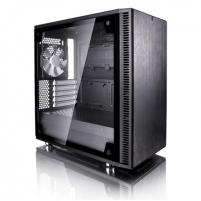 Kompiuterio korpusas Fractal Design Define Mini C TG FD-CA-DEF-MINI-C-BK-TG Side window, Left side panel - Tempered Glass, Black, Micro ATX, Power supply included No