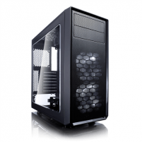 Kompiuterio korpusas Fractal Design Focus G Black Window Black, Middle Tower, Power supply included No