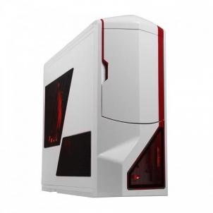 Kompiuterio korpusas NZXT computer case Phantom, White/Red Trim