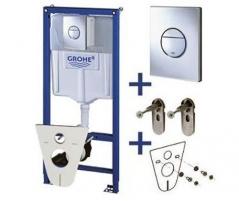 Komplektas-WC rėmas+Cosmo Nova+sieniniai tvirtinimai+klozeto tarpiklis (4in1)