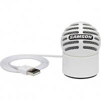 Kondensatorinis mikrofonas SAMSON Meteorite USB baltas