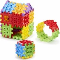 Konstravimo kaladėlės 60 vnt | Waffle Blocks | Little Tikes Uzlikas un būvniecības rotaļlietas