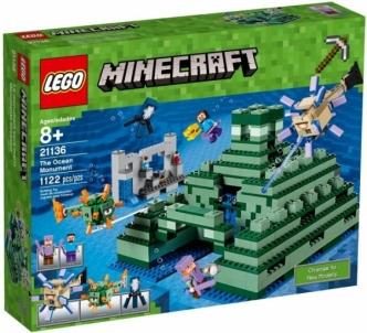Konstruktorius 21136 LEGO® Minecraft Povandeninė tvirtovė, nuo 8m. NEW 2017! LEGO ir kiti konstruktoriai vaikams