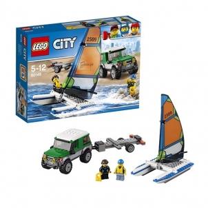 Konstruktorius 60149 LEGO® City Visureigis su priekaba katamaranui NEW 2017!
